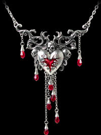 Alchemy Gothic - Bleeding Heart Pendant