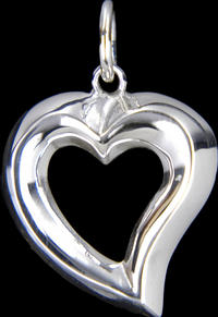 Dark Silver - Little Heart Pendant