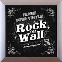 Wohnen & Deko - Rock On Wall Vinyl Frame (Silver) Picture frame