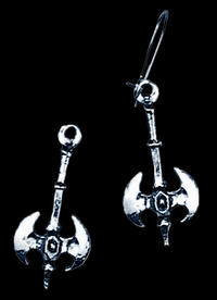 Alchemy Gothic - Double Axe Miniatures Earring