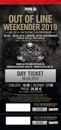 Various - Out Of Line Weekender (SA) - 06.04.19 Berlin/Astra Kulturhaus Ticket